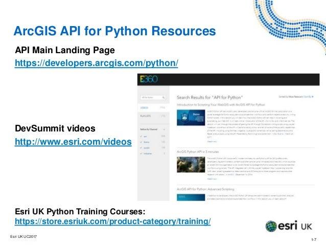 Introducing the ArcGIS API for Python - Training - Esri UK
