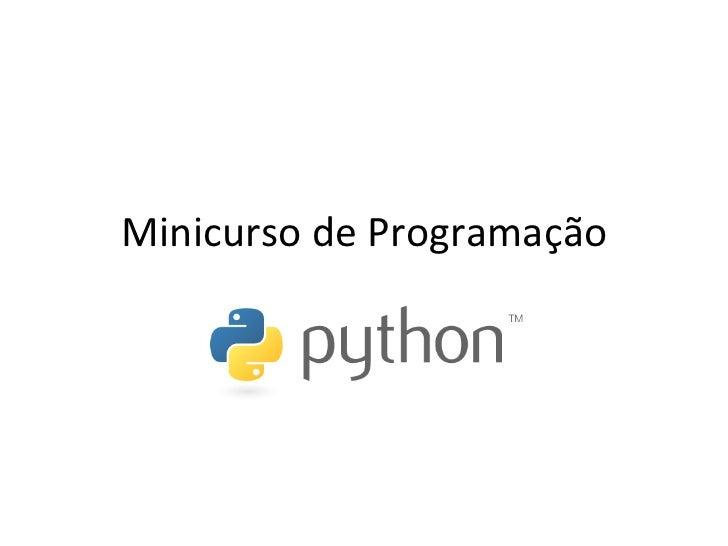 Minicurso de Programação