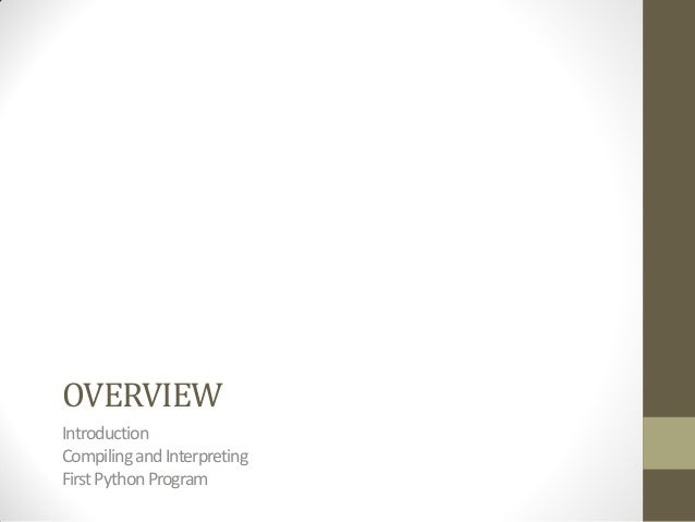 Python (basic) Slide 2