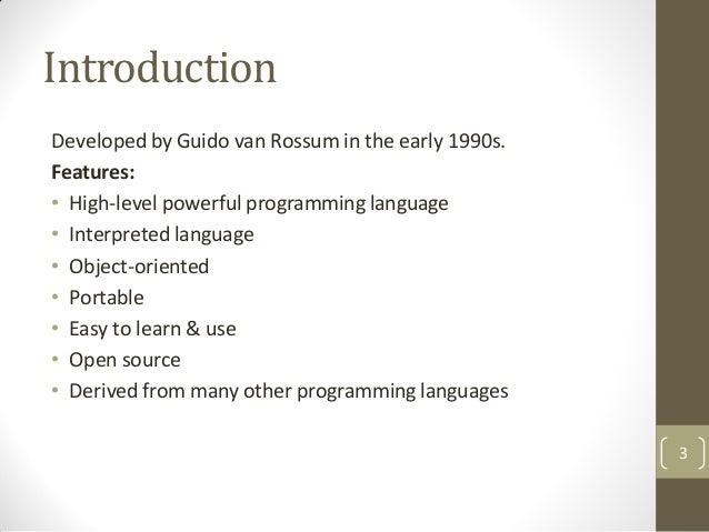 Python (basic) Slide 3