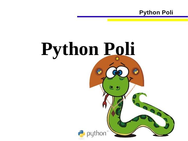 Python Poli     Python Poli