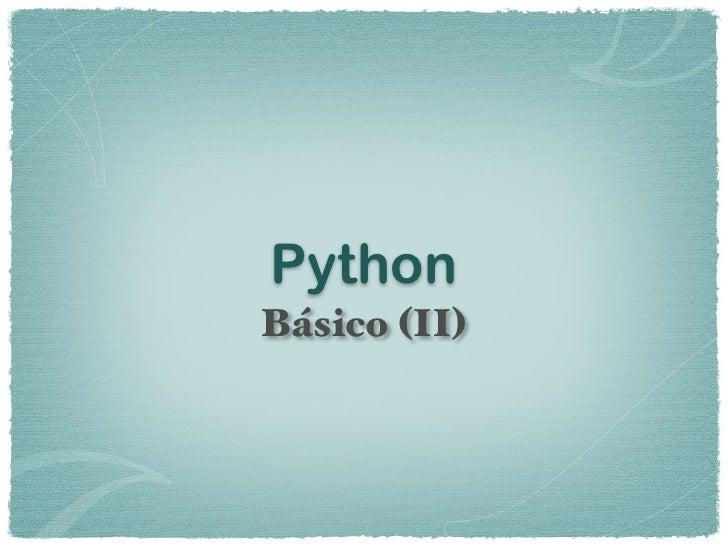 PythonBásico (II)