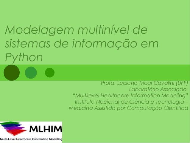 Modelagem multinível desistemas de informação emPython                       Profa. Luciana Tricai Cavalini (UFF)         ...