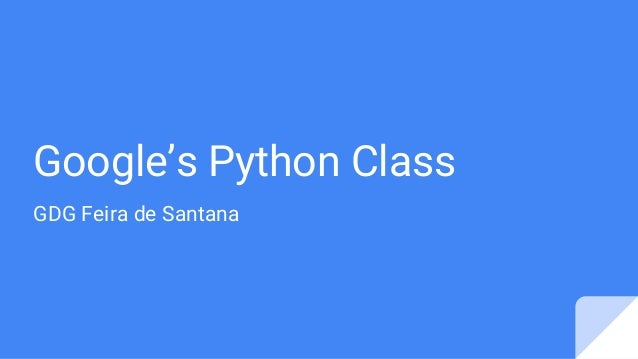 Google's Python Class GDG Feira de Santana