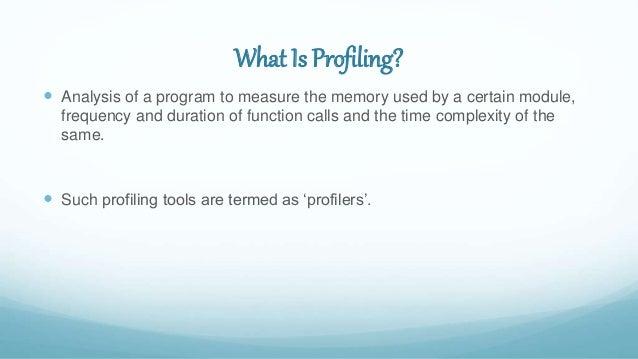 Python code profiling - Jackson Isaac Slide 2