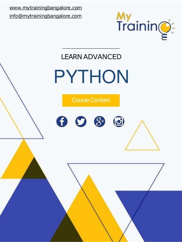 Python Training course content