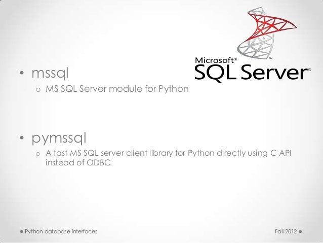 Python database interfaces
