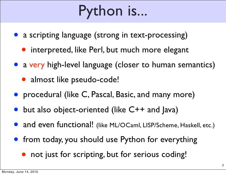 Python for text processing