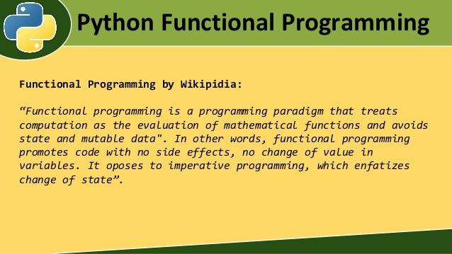 FUNCTIONAL PROGRAMMING IN PYTHON PDF