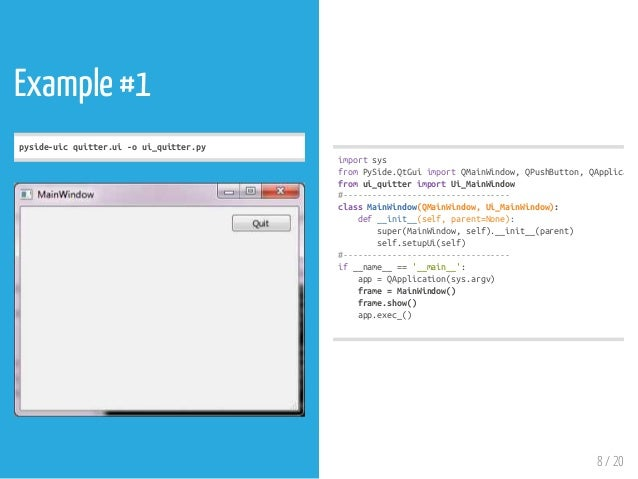 Python GUI PySide