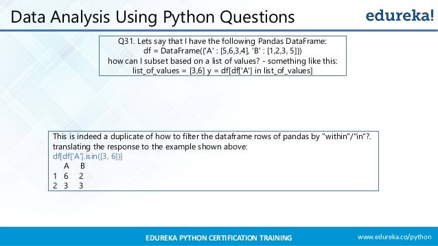 Python Interview Questions And Answers 2019 | Edureka