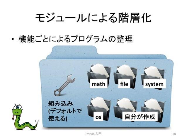 䝰䝆䝳䞊䝹䛻䜘䜛㝵ᒙ  • ᶵ⬟䛤䛸䛻䜘䜛䝥䝻䜾䝷䝮䛾ᩚ⌮  Python  ධ㛛  80  math  file  system  os  ⮬ศ䛜సᡂ  ⤌䜏㎸䜏  (䝕䝣䜷䝹䝖䛷  䛘䜛)