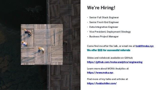We're Hiring! • Senior Full Stack Engineer • Senior Front-End Engineer • Data Integration Engineer • Vice President, Deplo...