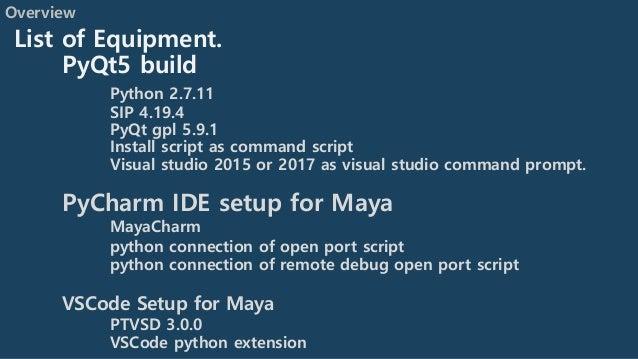 Python maya 2018 setup note