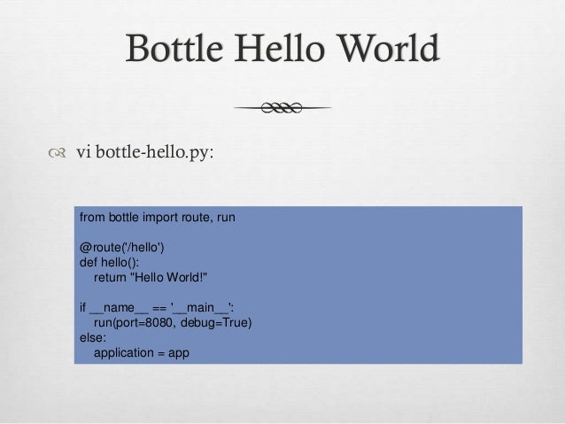 Simple webapps with nginx, uwsgi emperor and bottle