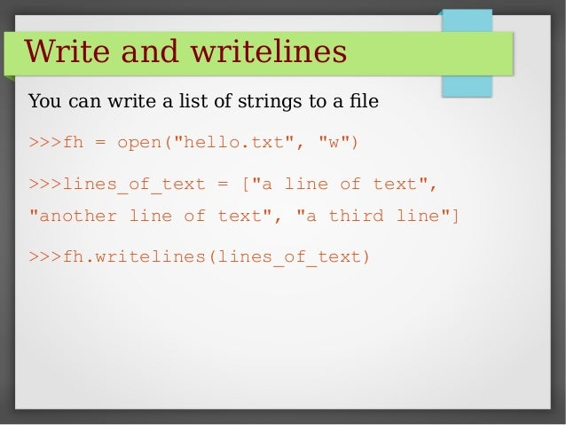 Python write list to file