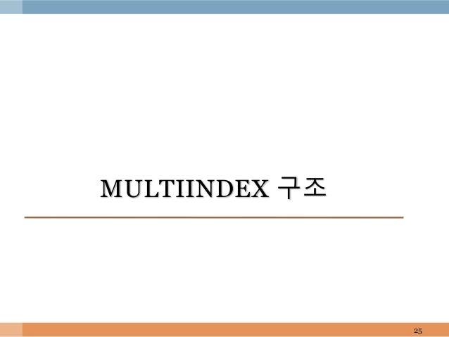 MULTIINDEX 구조 25