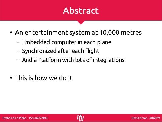 Python on a Plane Slide 2