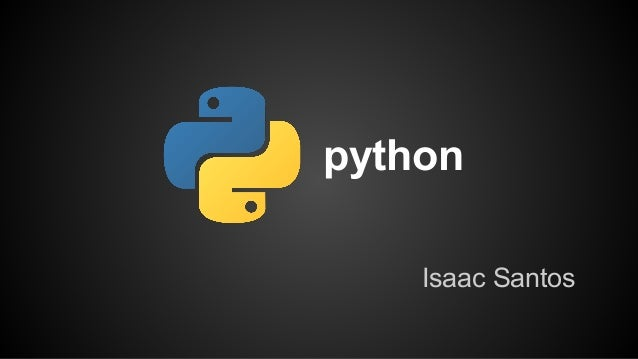 python Isaac Santos