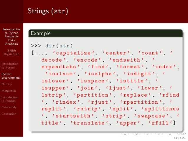 Introduction to Python Pandas for Data Analytics