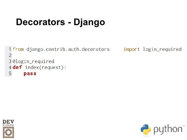 Python para devs for Decorator python