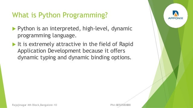 Python programming Training in Bangalore