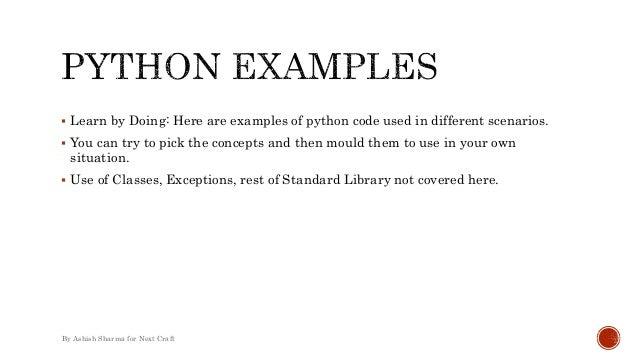 Python Programming Everydayish Examples