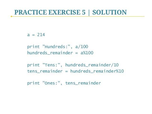Python Programming - II  The Basics