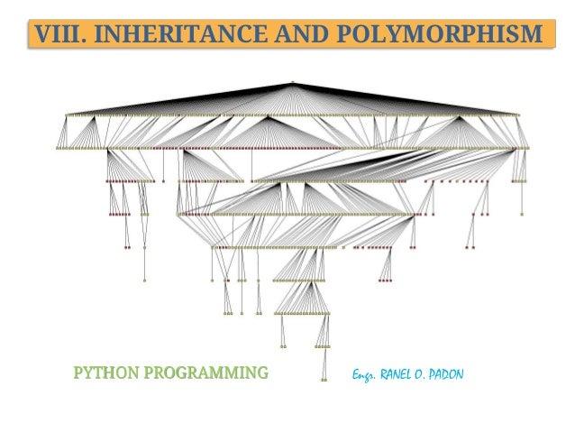 VIII. INHERITANCE AND POLYMORPHISM  PYTHON PROGRAMMING  Engr. RANEL O. PADON