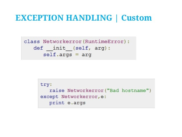 Python Programming - X  Exception Handling and Assertions