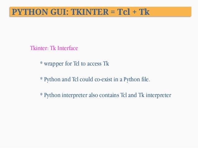 Python Programming Xiii Gui Programming