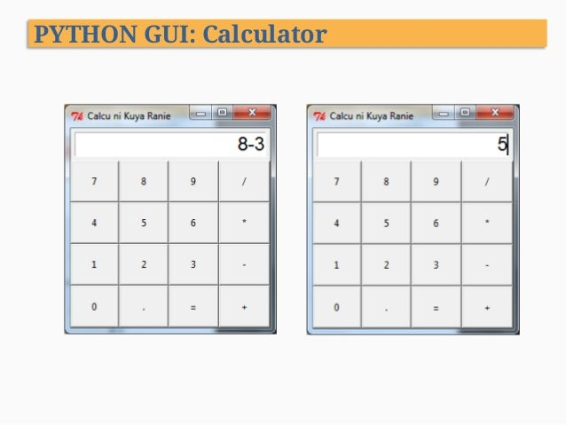 python gui calculator