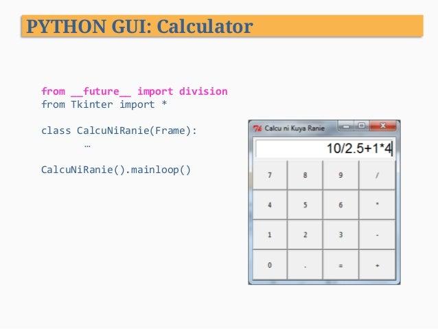 Python Programming - XIII  GUI Programming
