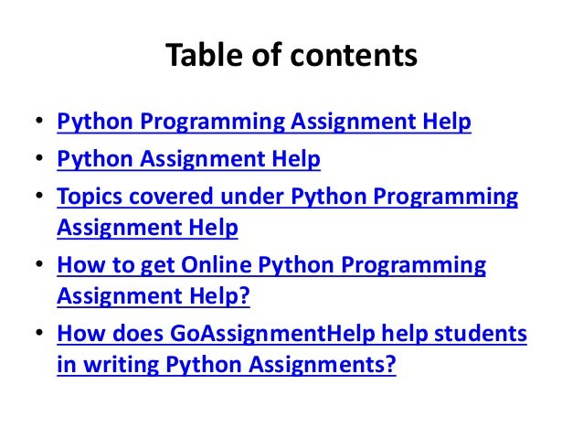 python programming assignment help python assignment experts  assignment help 2