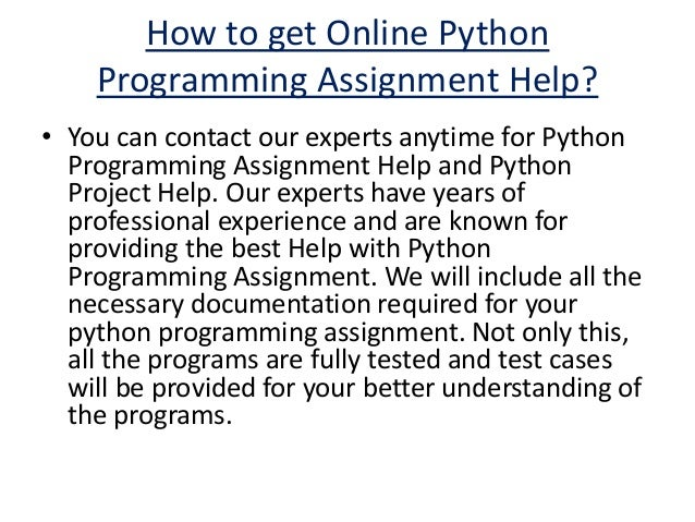 python programming assignment help python assignment experts 5