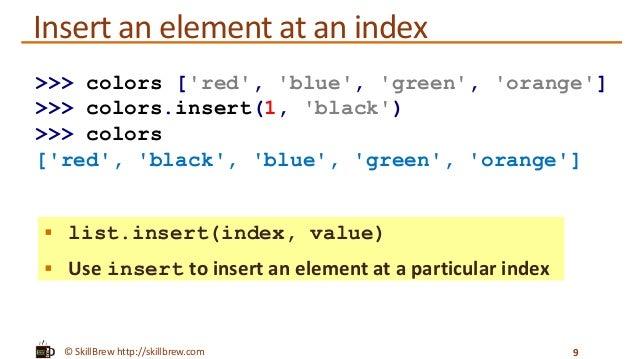 Python Programming Essentials - M12 - Lists