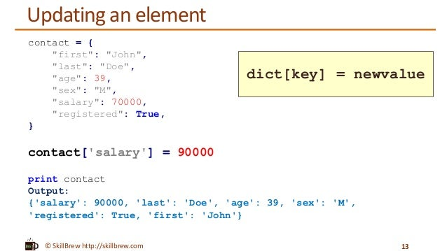 python print dictionary keys and values