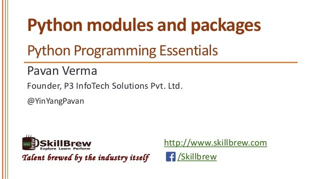 Python Programming Essentials - M18 - Modules and Packages
