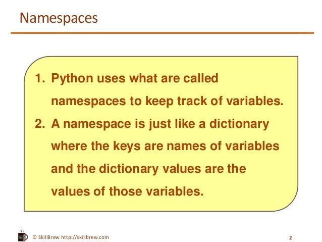 Python Programming Essentials - M19 - Namespaces, Global ...
