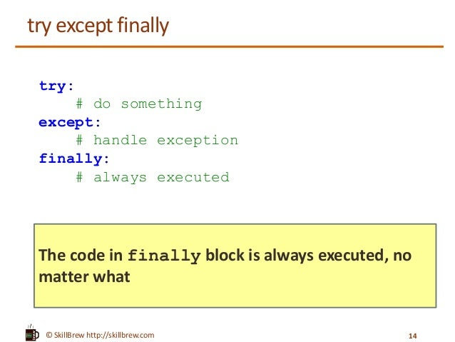 try and except in python 3