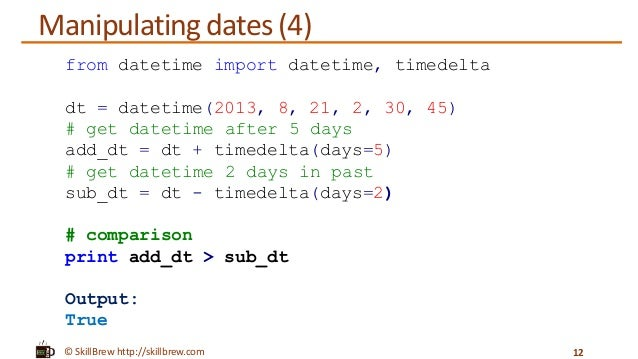 Python date and time in Perth
