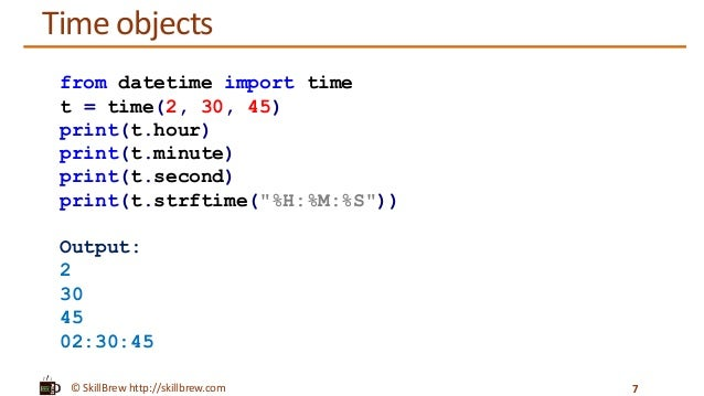 Python Programming Essentials - M23 - datetime module