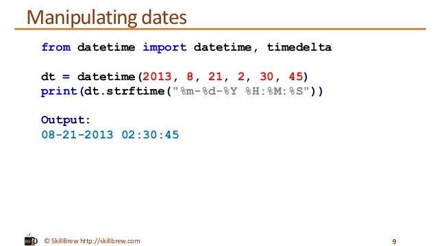 Python Programming Essentials - M23 - datetime module