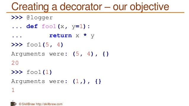 Python programming essentials m38 decorators for Decorator python