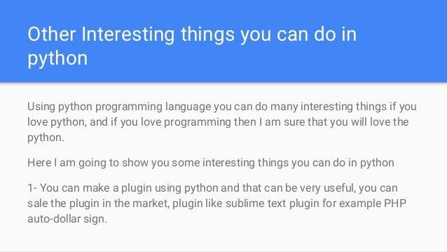 Best Python project ideas, urgent python help