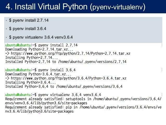 virtualenv python 2 7