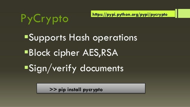 Python Cryptography & Security