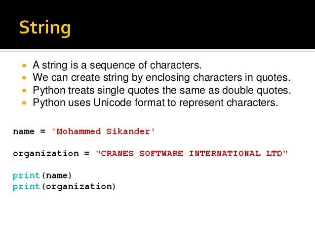 Python strings