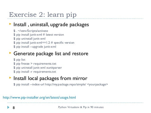 Python virtualenv & pip in 90 minutes
