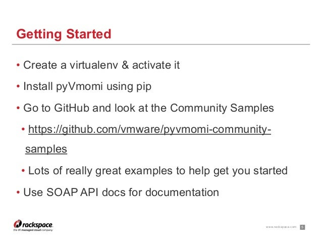 Quick Introduction To pyVmomi